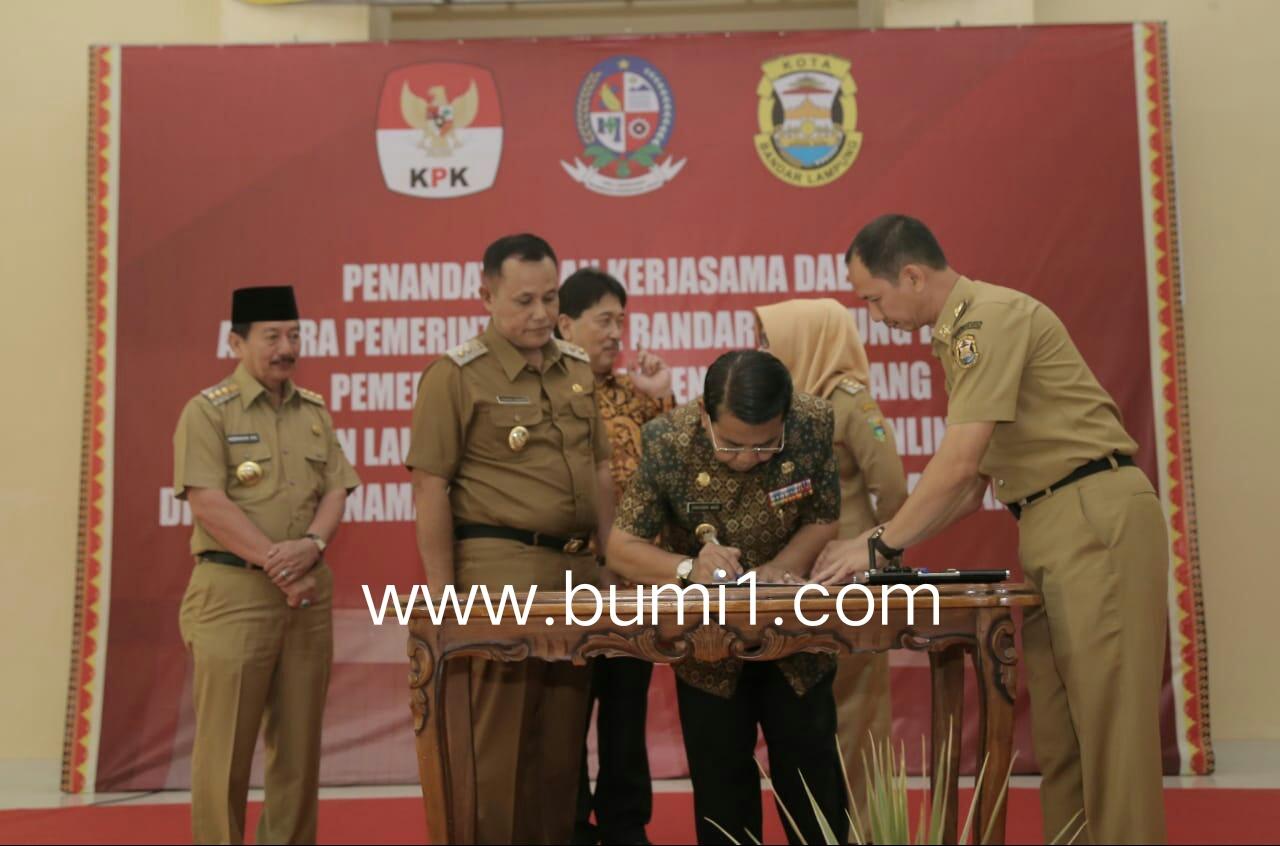 Pemkab Lamsel – Pemkab Deli – Pemkot Bandar Lampung Teken Mou Perizinan Online