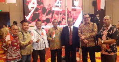 Ketua SMSI Lampung Ikuti Upacara HUT RI Ke-74 Di Ballroom Hotel Renaissance,